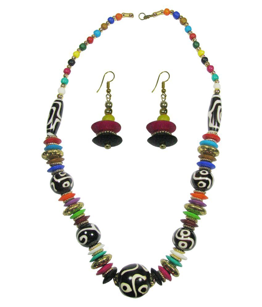 Collana Funky Beaded Necklace set