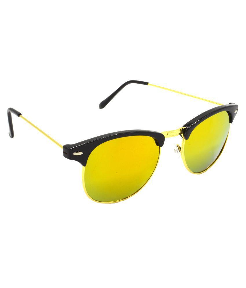 Hrinkar Golden Clubmaster Sunglasses ( Hrs430-Bk-Gld-Gld )