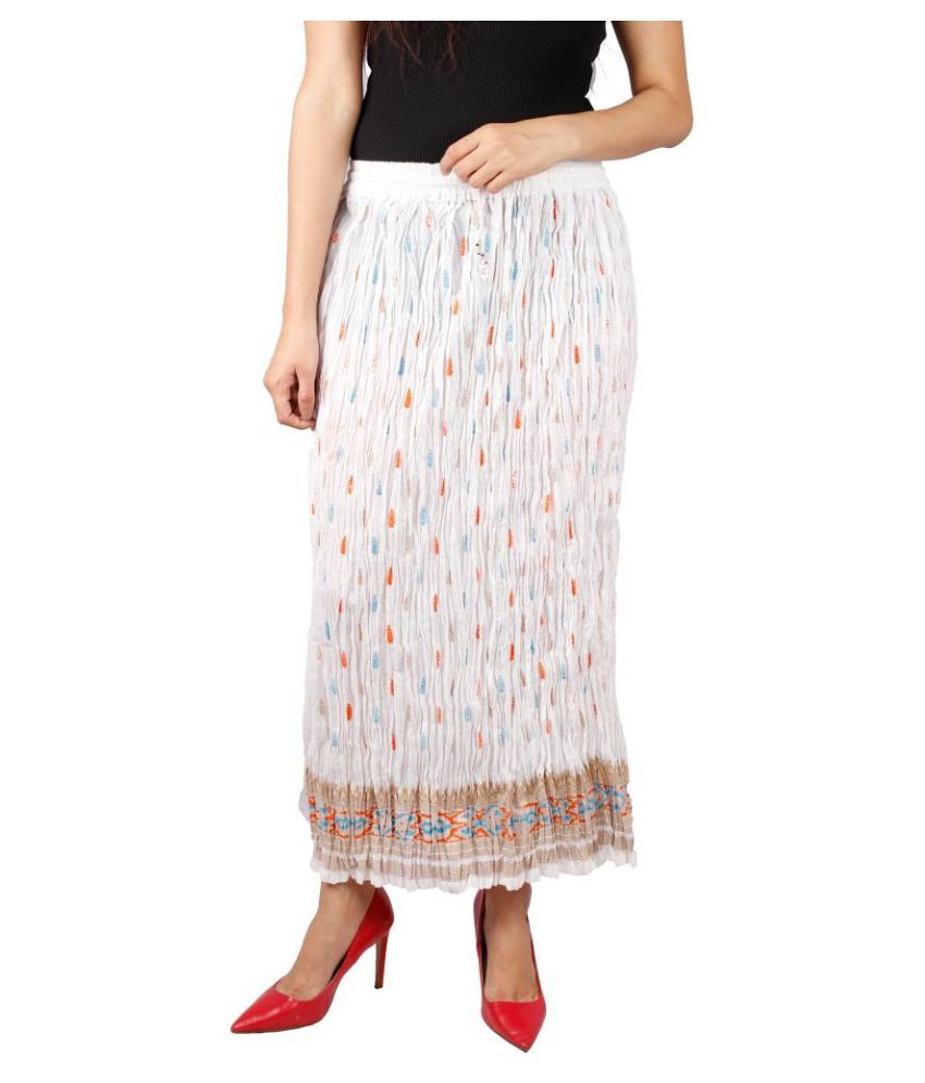 buy rp handicrafts cotton pleated skirt at best