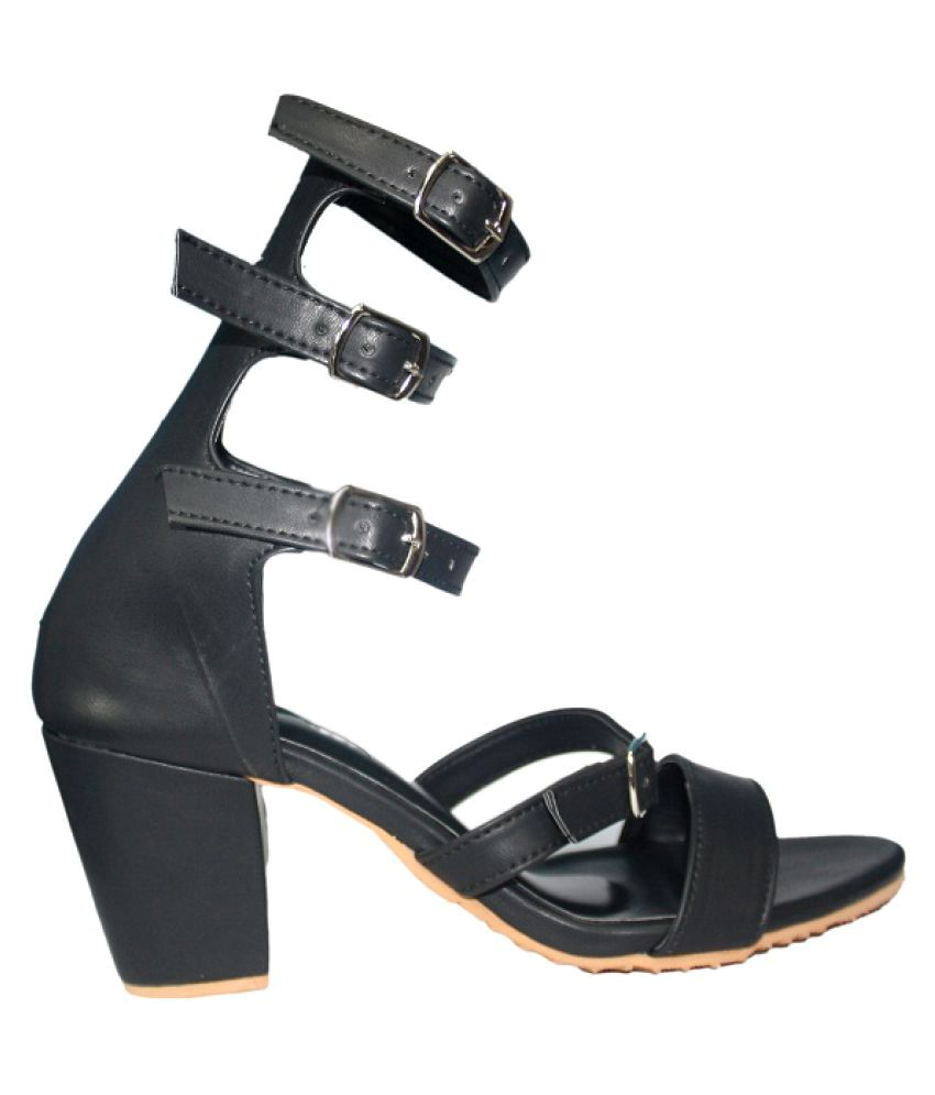 Andfoot black block heels price in india buy andfoot for Black block