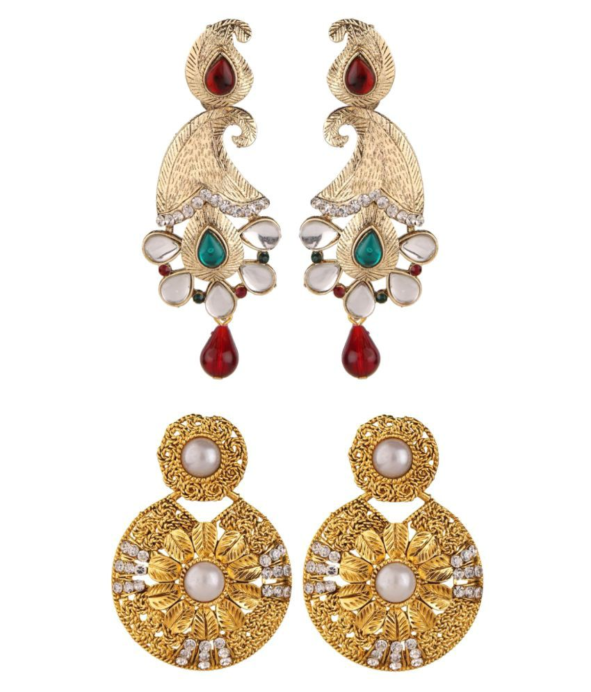 Archi Collection Jewellery Combo of Party Wear Earrings for Women - Pack of 2