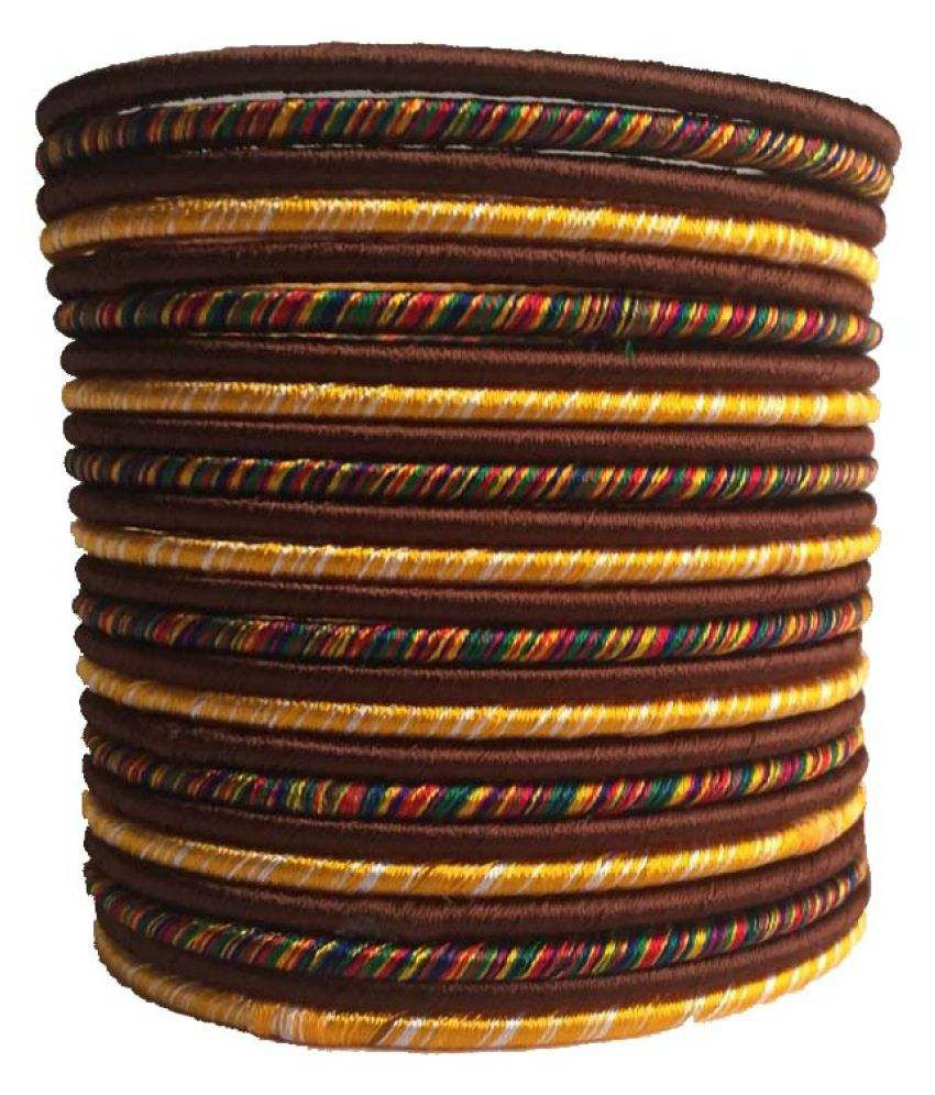 Thirsty Guys Multicolour Silk Thread Plastic Bangle