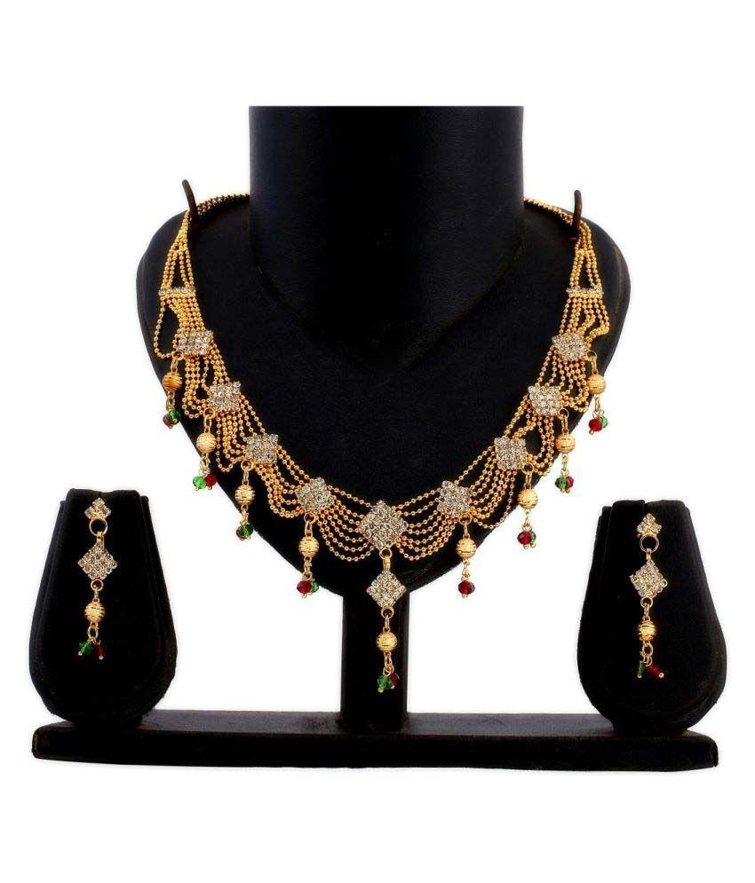Gopalvilla Golden Alloy Necklace Set