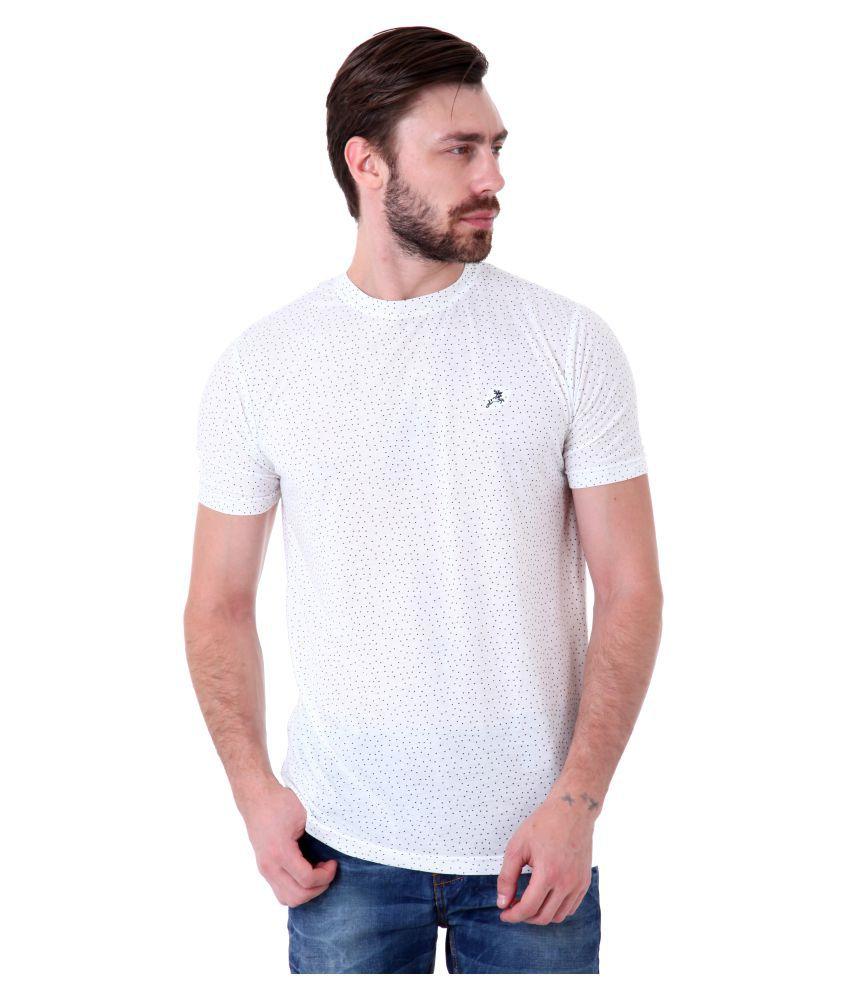 Roman Island White Round T-Shirt