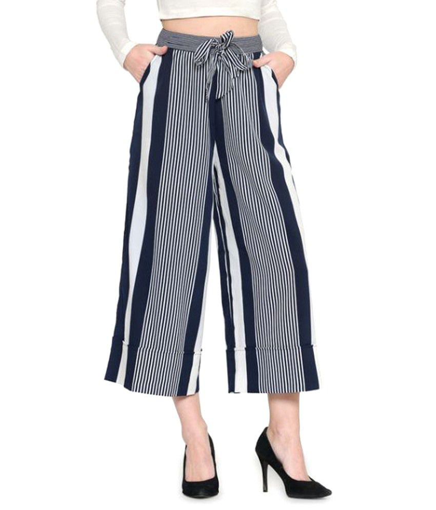 ef1209ccf082a Buy Zastraa Poly Crepe Culottes Online at Best Prices in India - Snapdeal