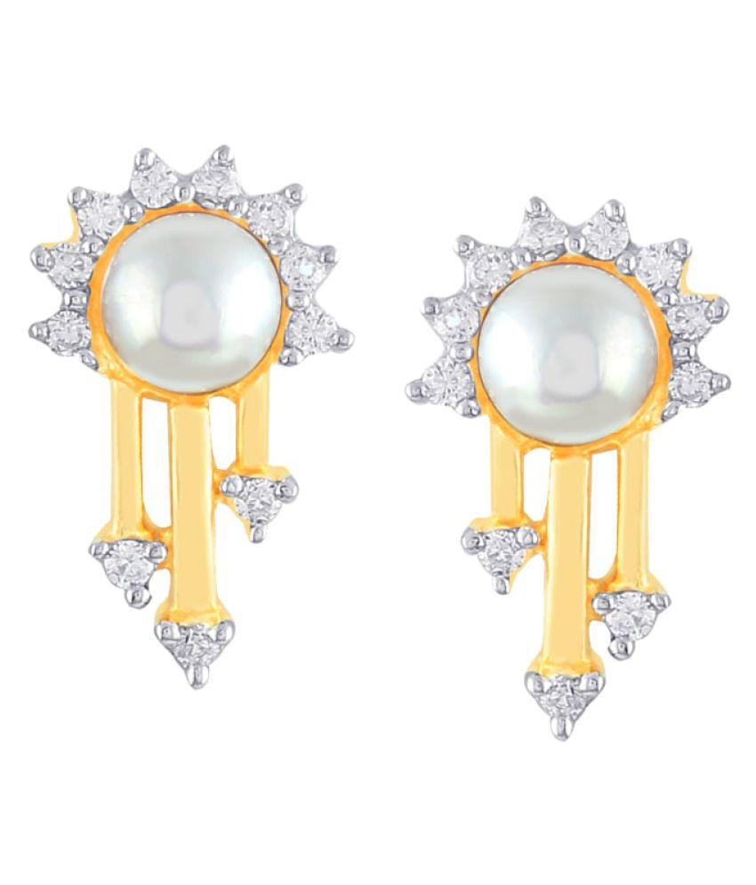 Asmi 18k BIS Hallmarked Gold Diamond Studs