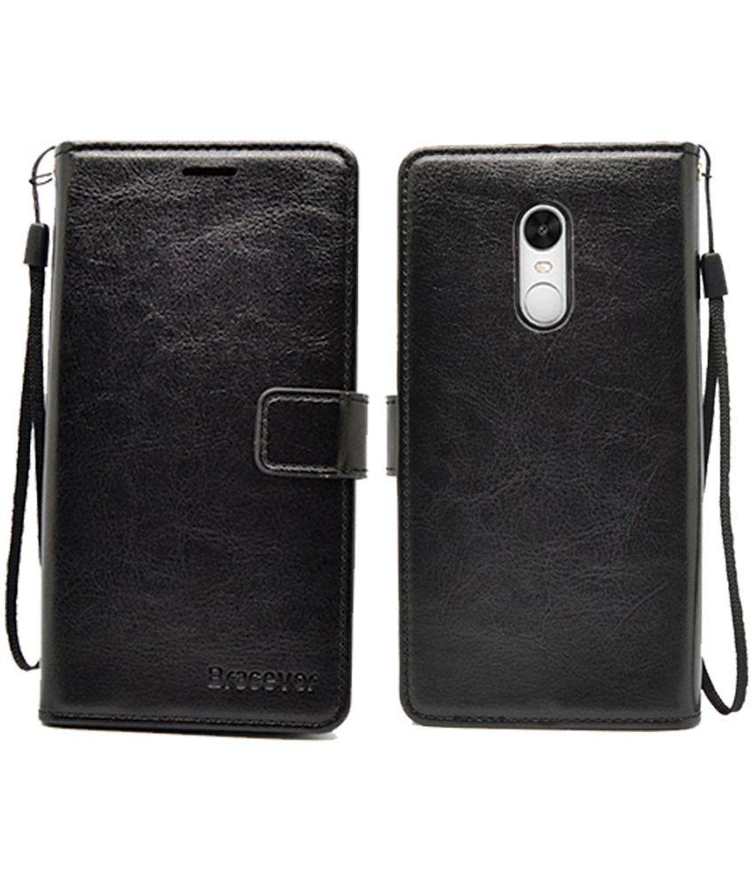 cheap for discount 9fb9b 1bb8e Xiaomi Redmi Note 4 Flip Cover by Bracevor - Black