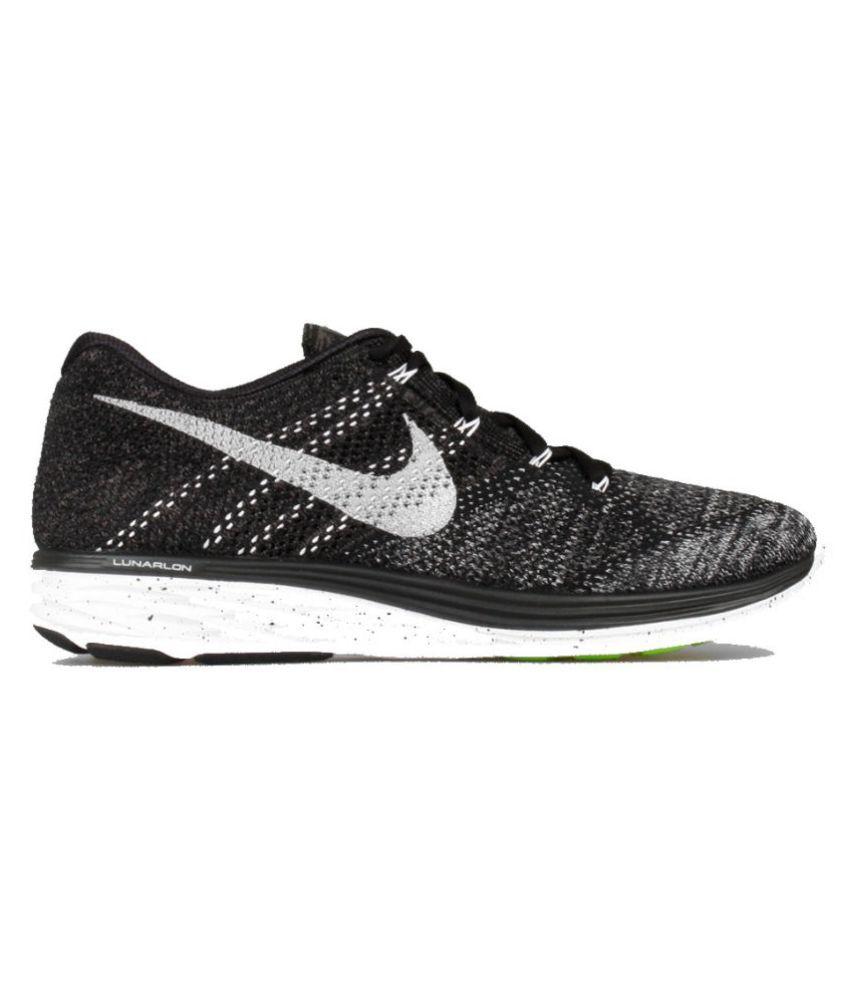 f53605f11a041 Nike Lunar Flyknit 3 Black Running Shoes - Buy Nike Lunar Flyknit 3 ...