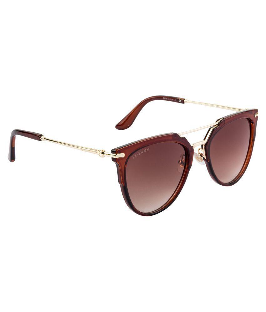 Voyage Brown Cat Eye Sunglasses ( S679MG1909 )