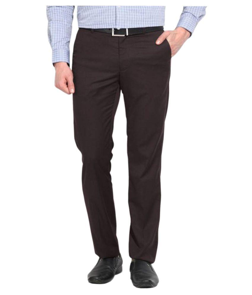 AD & AV Coffee Regular Flat Trousers