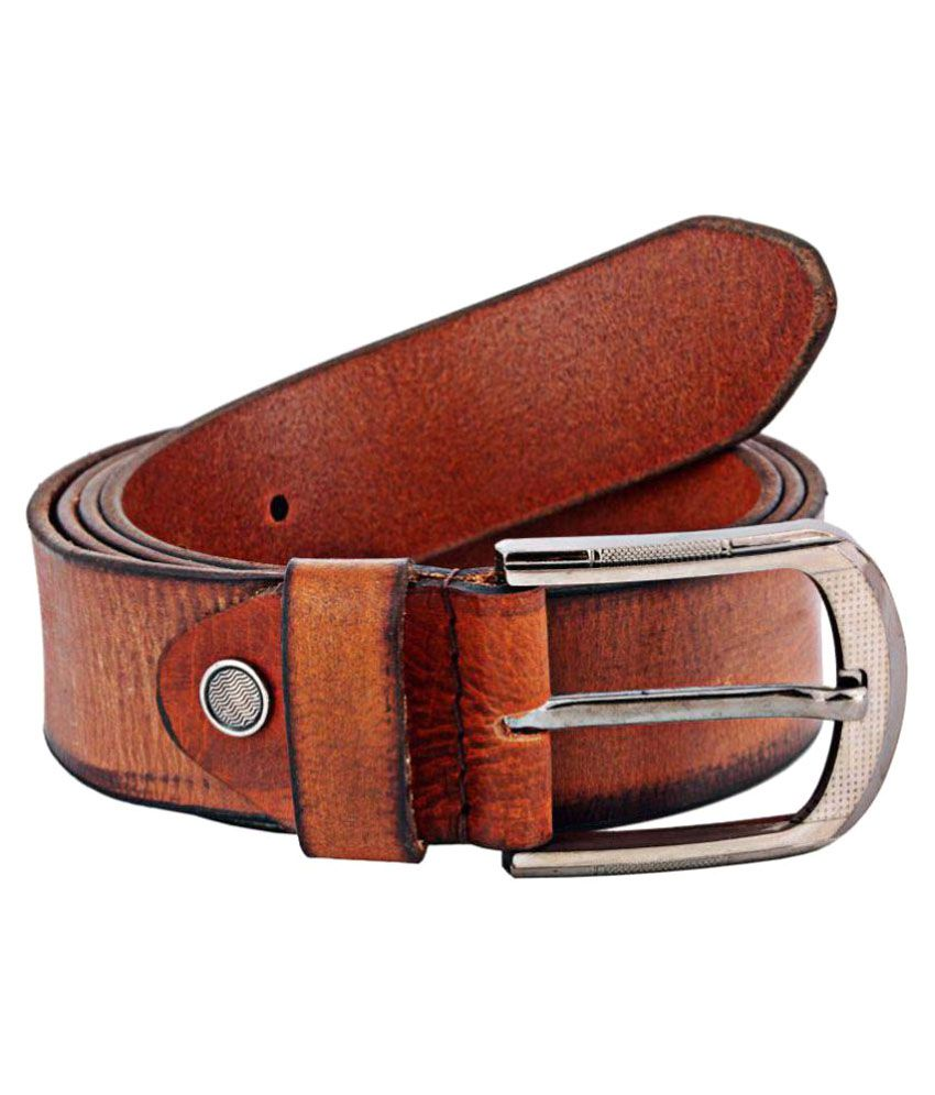 Zint Brown Leather Casual Belts