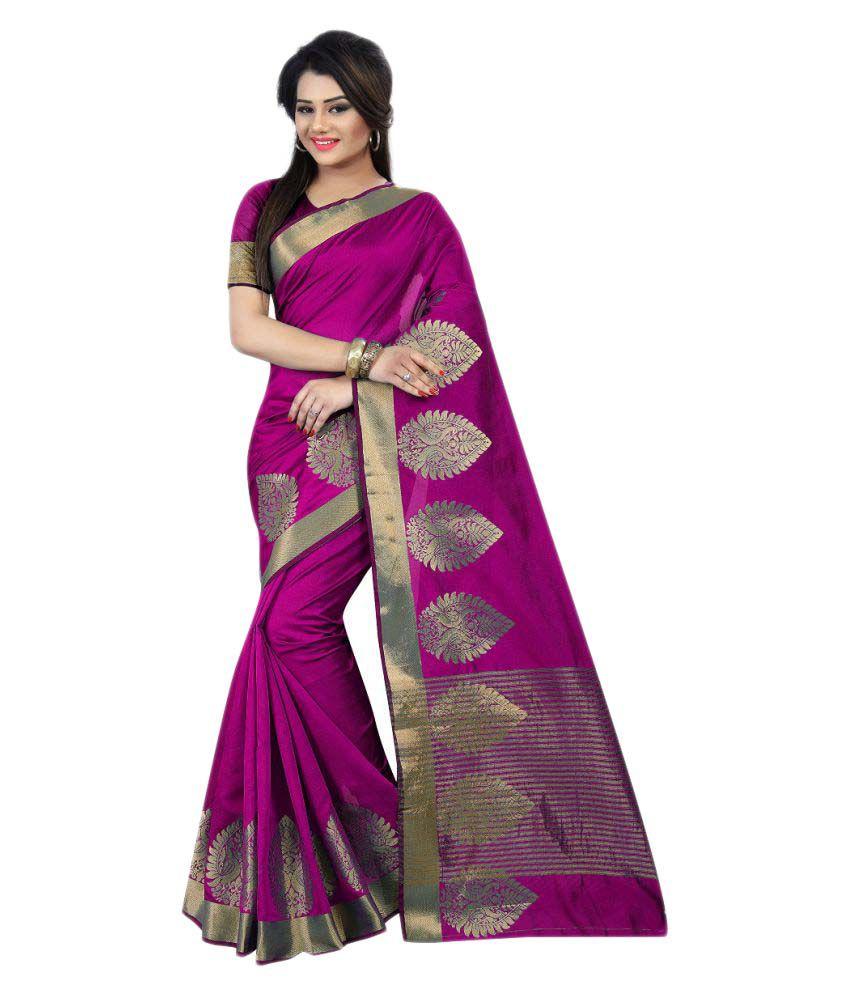 Bindani Studio Pink Cotton Saree