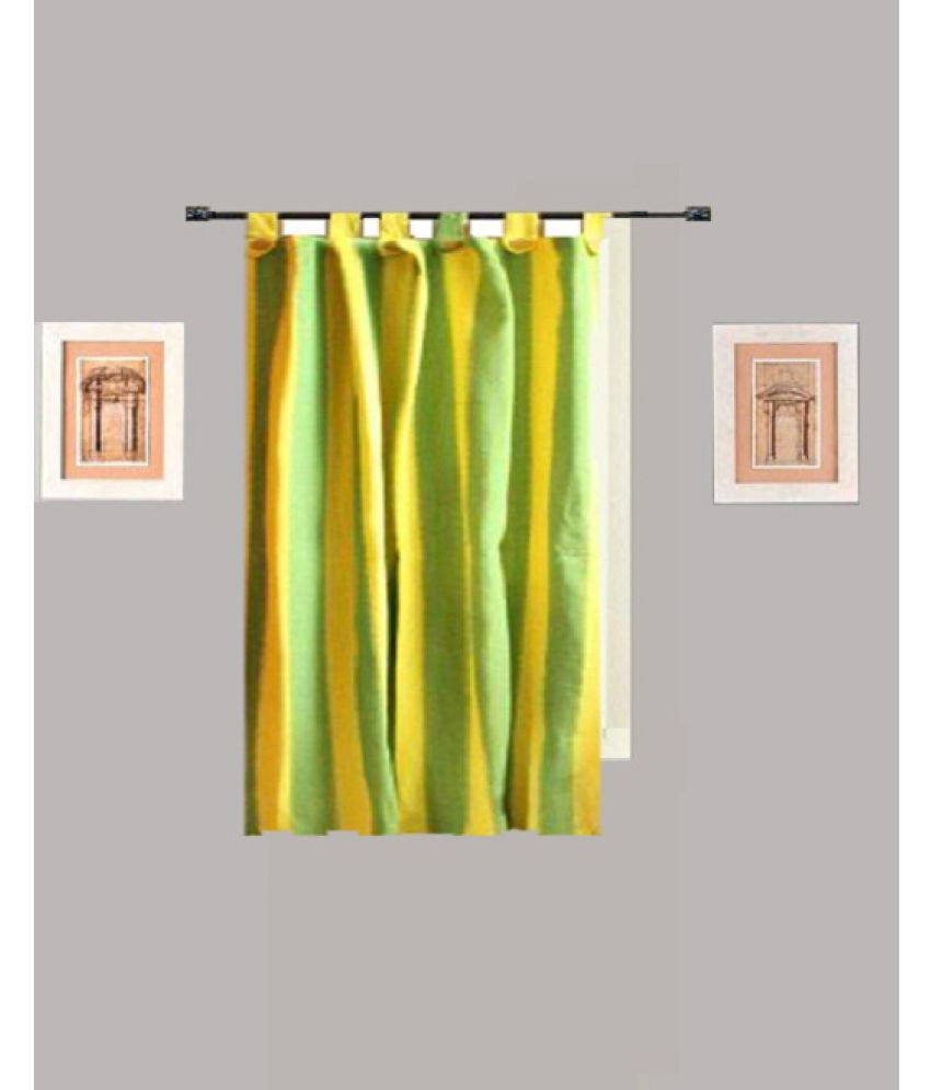 Tidy Single Window Loop Curtains Stripes Multi Color