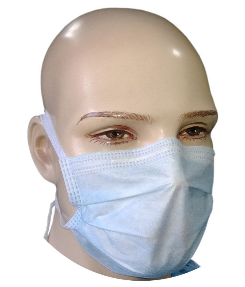 Maxpluss 3Ply Surgical Face Mask With Tie - 50 Pcs