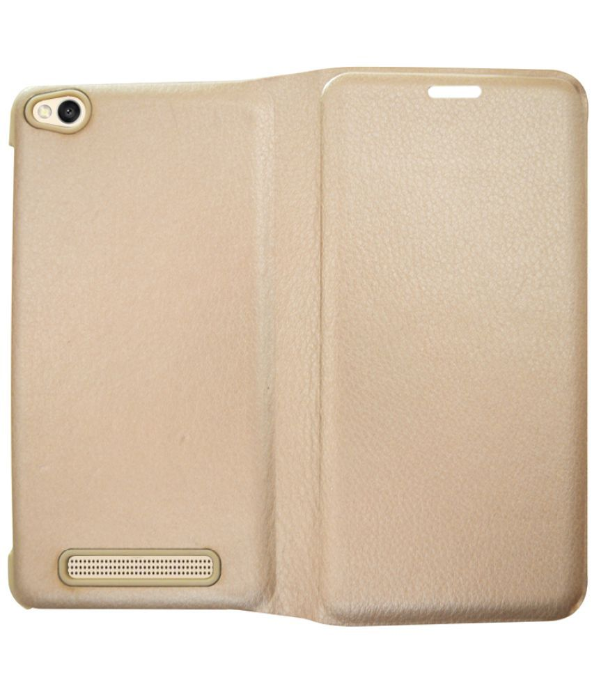Xiaomi Redmi 4a Flip Cover by Coverage - Golden