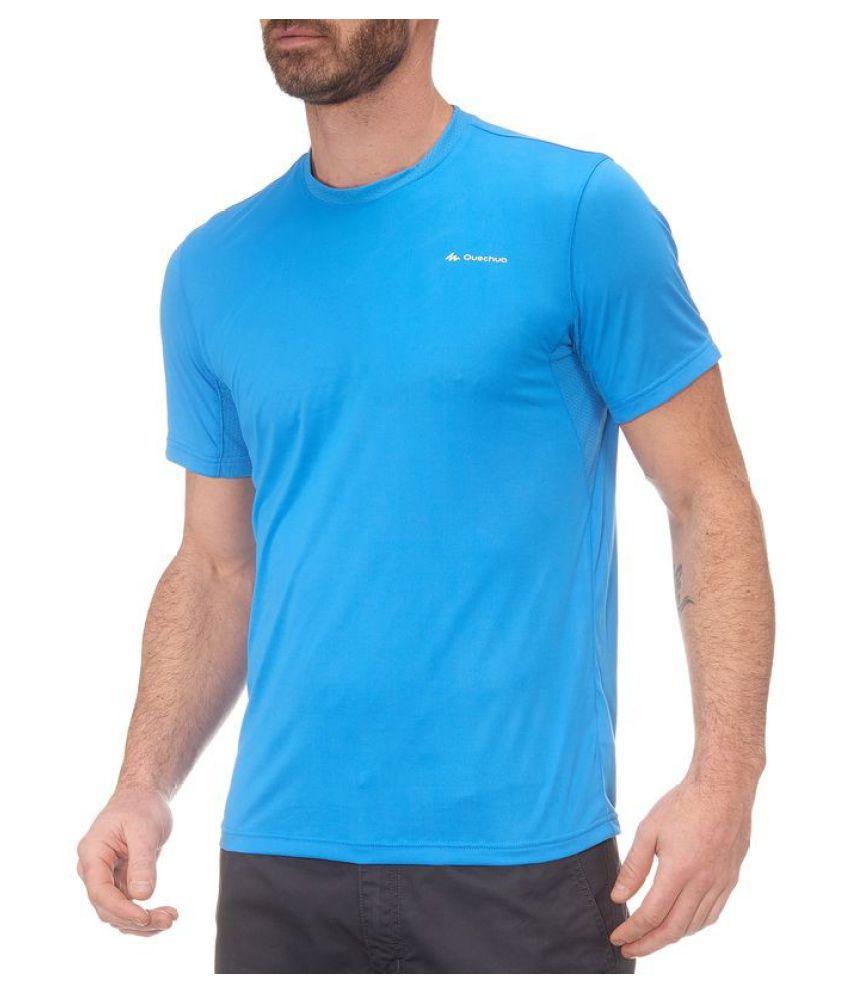 Quechua Blue Polyster Hiking T-Shirt