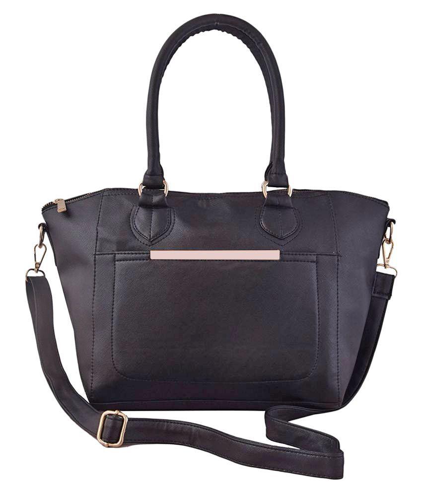 Hanso Collection Black P.U. Shoulder Bag