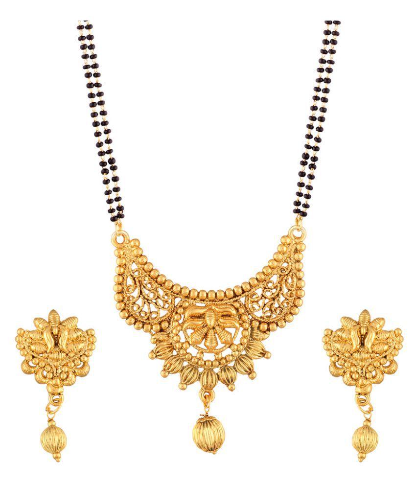 I Jewels Golden Mangalsutra Set
