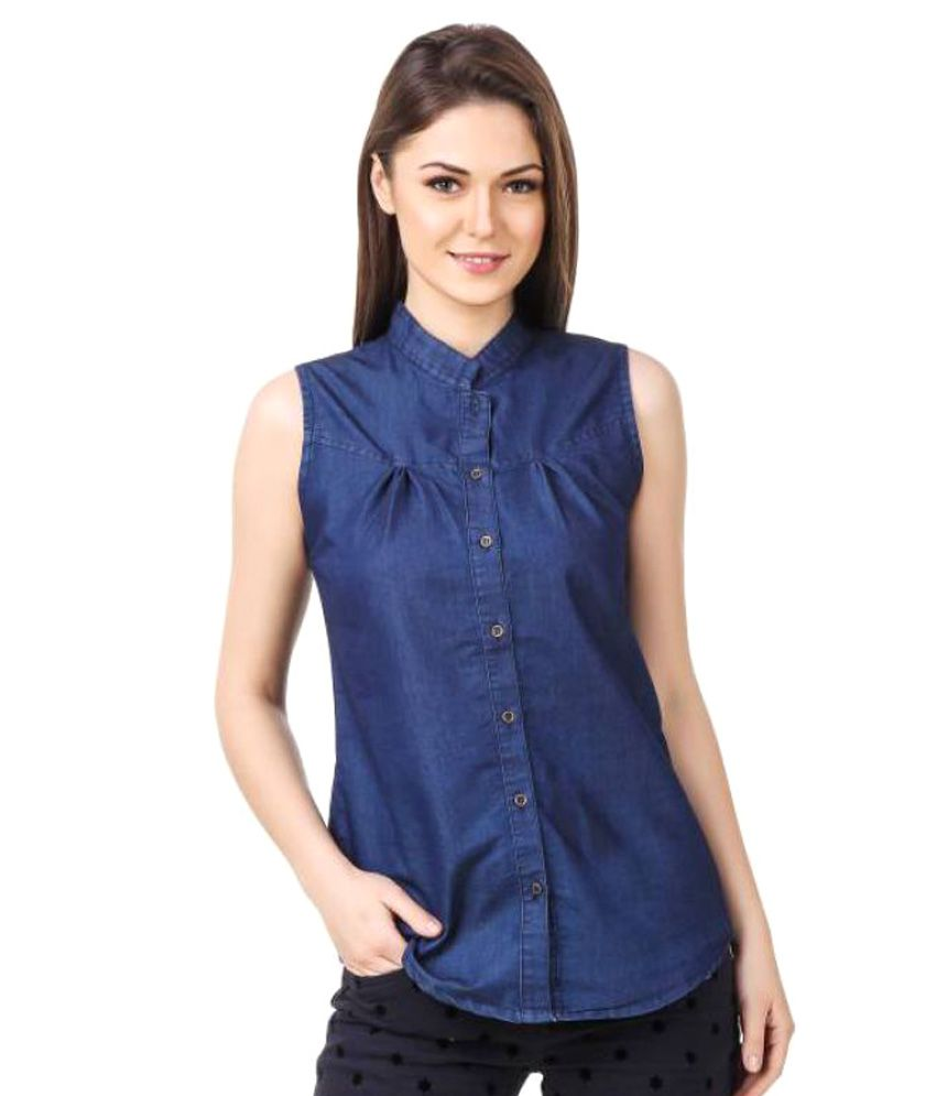 Buy sexy cat denim shirt online at best prices in india for Buy denim shirts online