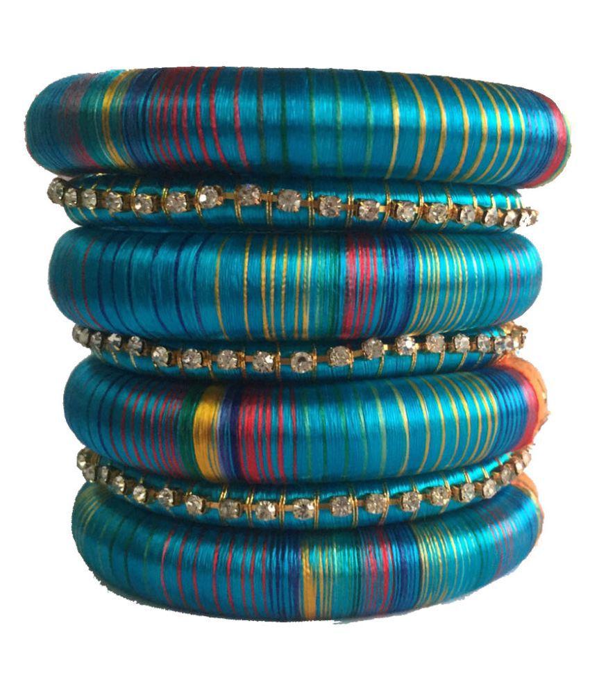 Thirsty Guys Multi Color Silk Thread Kada Set