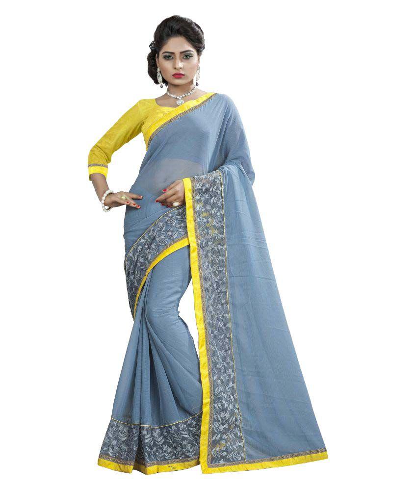 Shree Vallabh Sarees Blue Georgette Saree