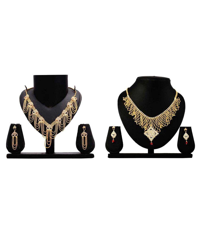 Dealseven Fashion Golden Necklace Set Combo