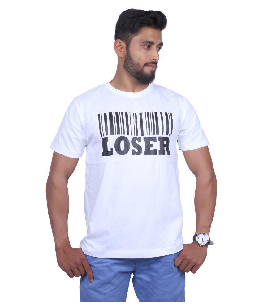 S.V White Round T-Shirt
