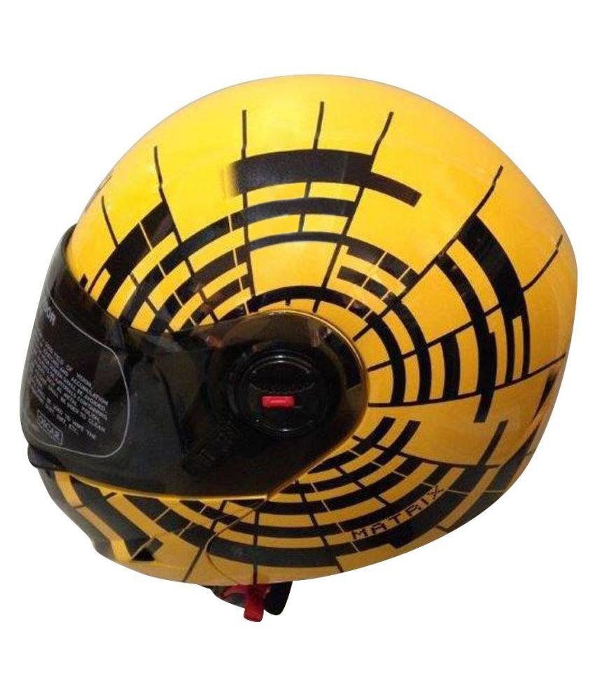 c691947c ... Steelbird Oscar Matrix With Plain Visor Flip Up Helmet - Yellow L ...