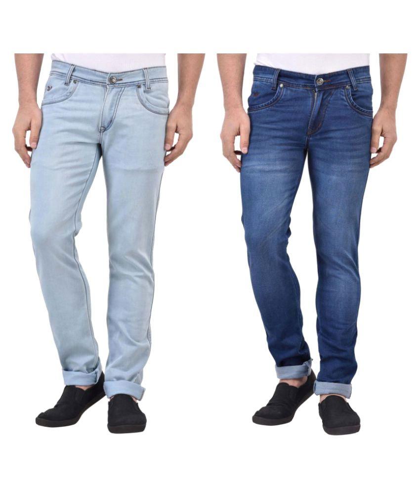 Denzor Blue Regular Fit Jeans