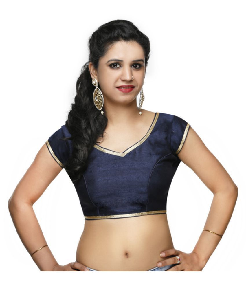 Lady In Style Blue Round Shape With Dori Blouse