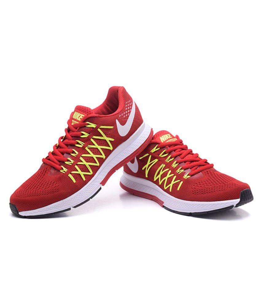 low priced f5ce6 ab09b Nike Zoom Pegasus 32 Running Shoes Red  Buy Online at Best Price on Snapdeal