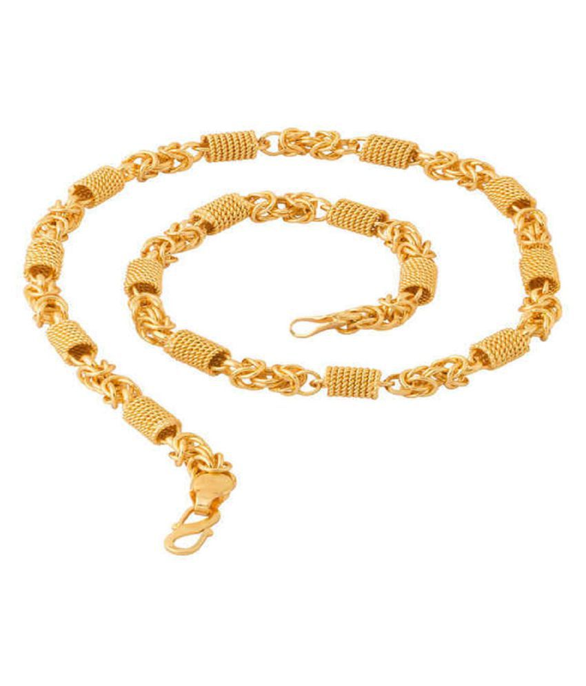 D&D Exclusive Designed For Men 22K Gold Plated Brass Chain For Men Boys