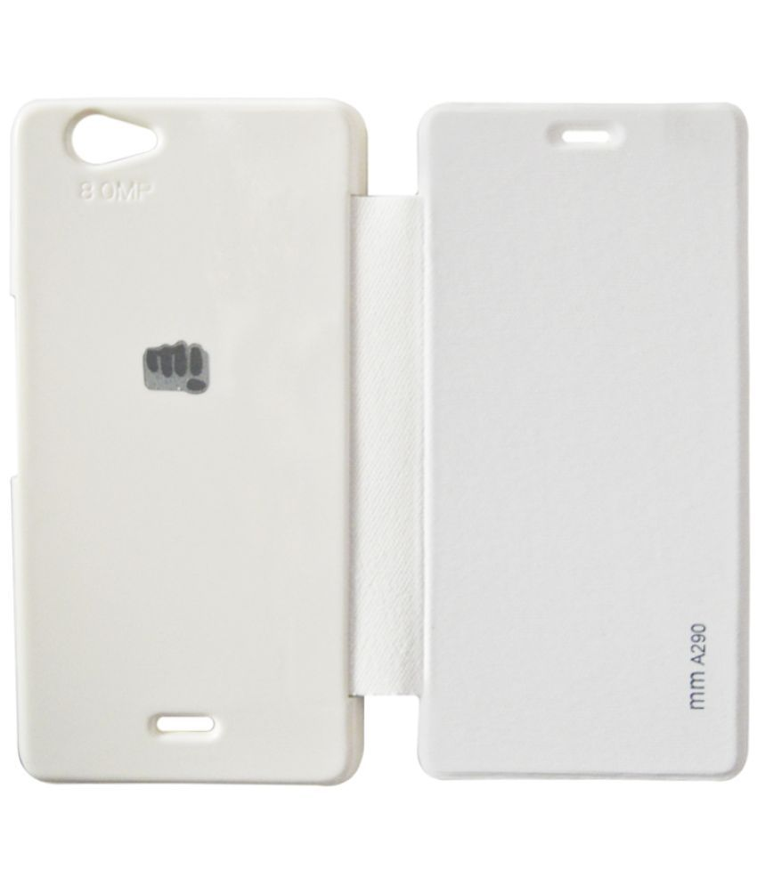 Micromax Canvas Knight Cameo A290 Flip Cover by Rdcase - White