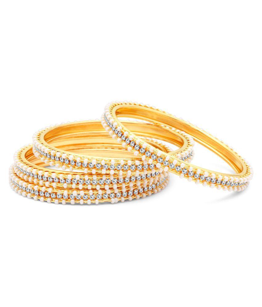 Sukkhi Golden AD Bangles For Women Pack Of 4
