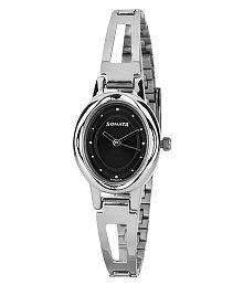 Sonata Silver 8085sm01 Analog Watch For Women