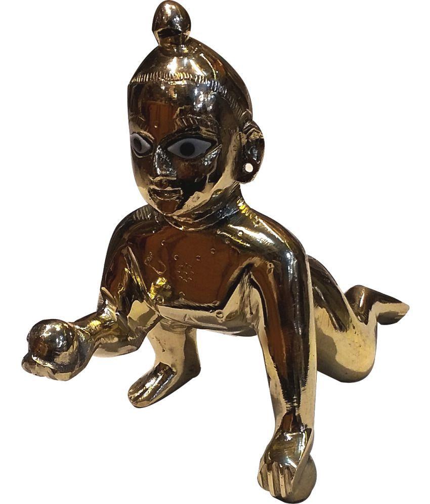 Rudra's Laddu Gopal Brass Idol