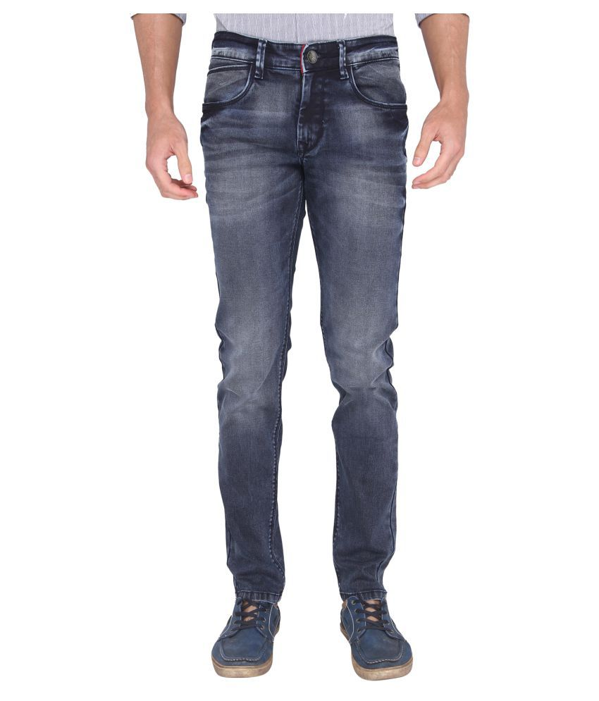 A La Mode Dark Blue Slim Jeans
