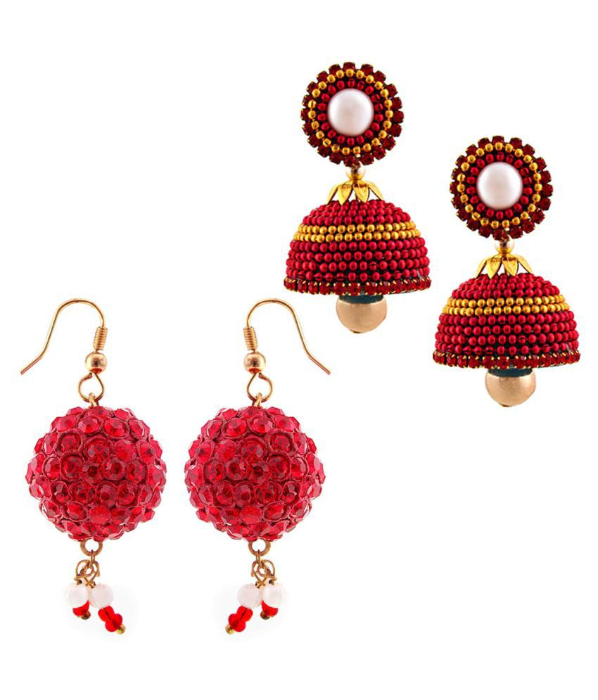 Indian Sparrows Multicolour Earrings Combo