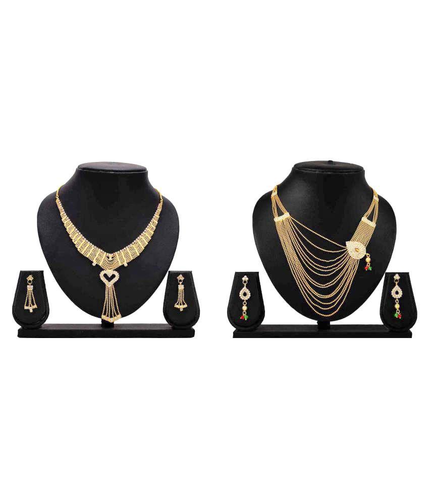 Dealseven Fashion Presents Multicolor Alloy Necklace Set Combo
