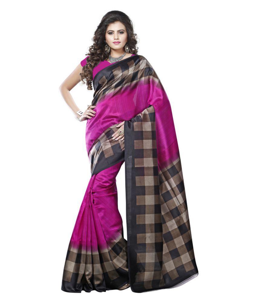 Urban Naari Multicoloured Bhagalpuri Silk Saree