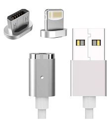 Dice Magnetic Charging Cable White - 0.2 Meter