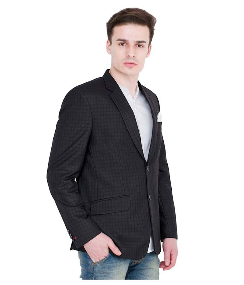Lorenzini Designs Black Checks Party Blazers