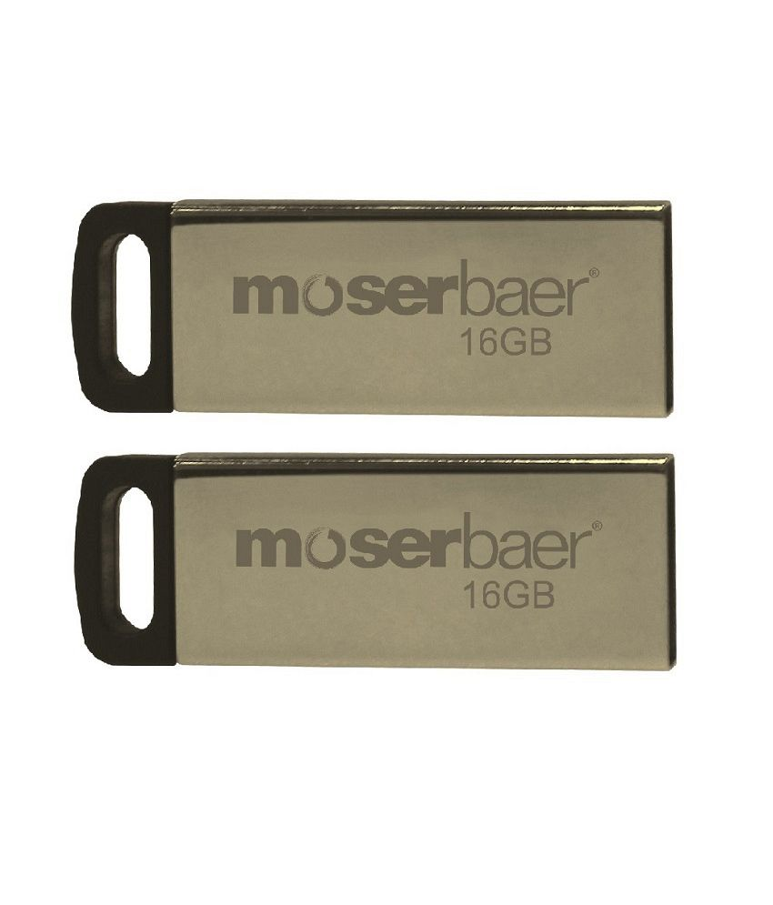 Moserbaer Atom 16GB USB 2.0 Pendrive Pack of 2