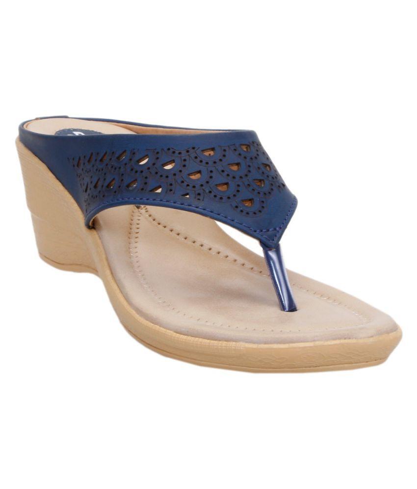 Catbird Blue Wedges Heels