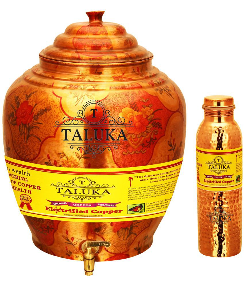 Taluka Copper Water Container Set of 2