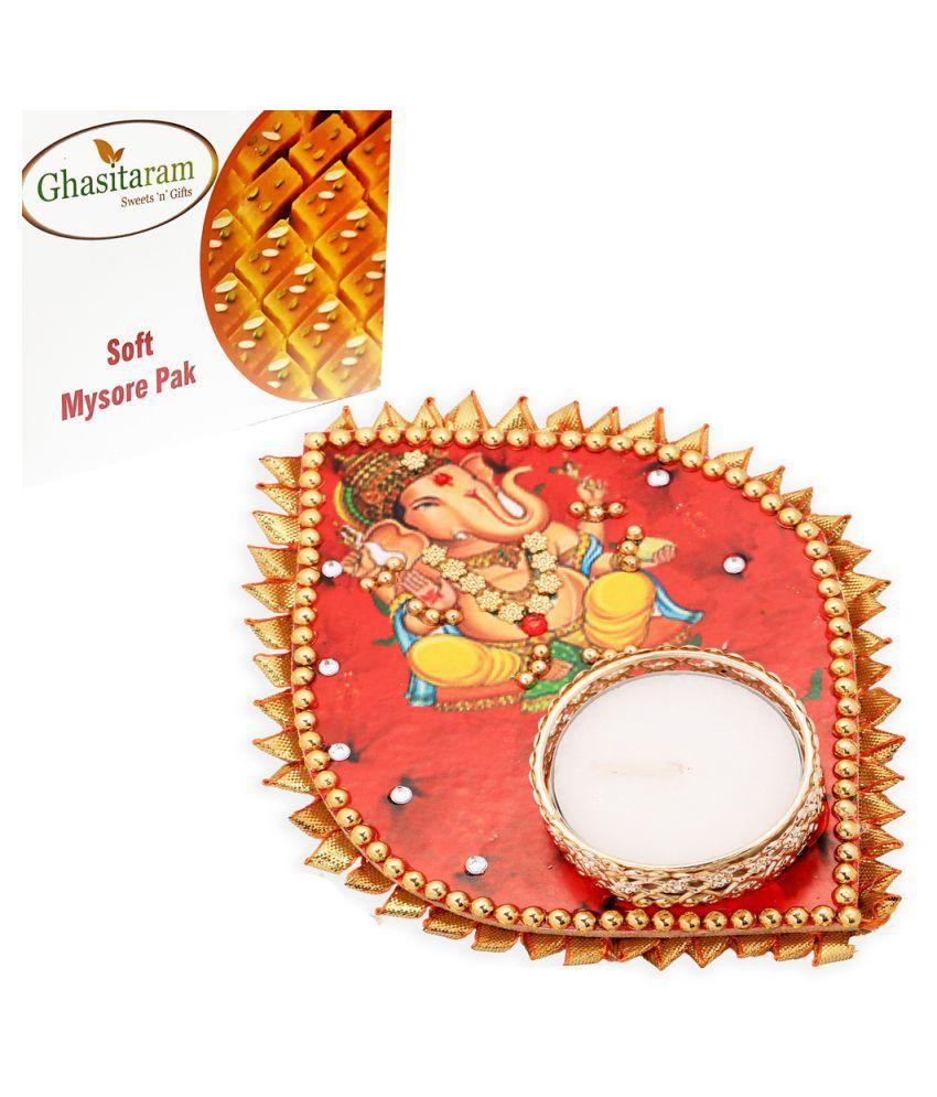 Ghasitaram Gifts T-liteWith Mysore Pak 200 gm