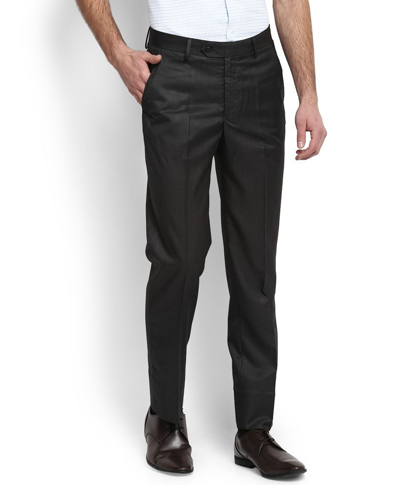 Peter England Grey -Fit Trousers