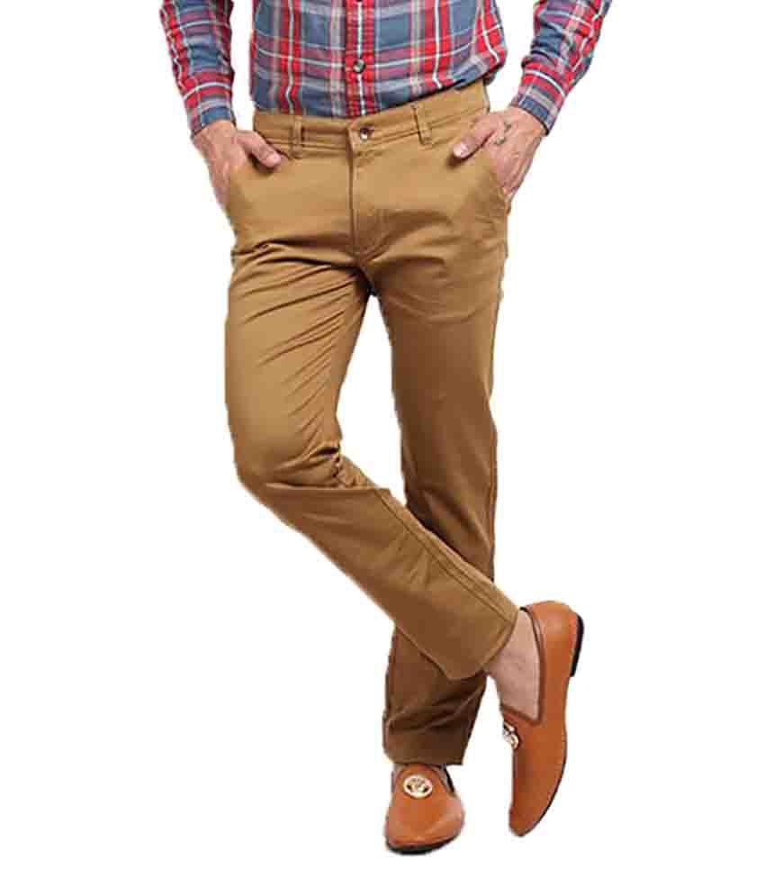 X-Cross Khaki Slim -Fit Flat Chinos