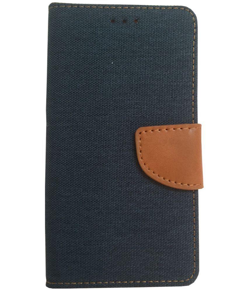Lava X3 Flip Cover by Lomoza - Blue
