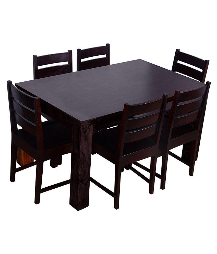Aprodz tallinn 6 seater dining set mahogany
